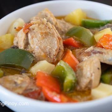 Pininyahang Manok - Pineapple Chicken
