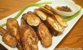 Fried Talong with Bagoong
