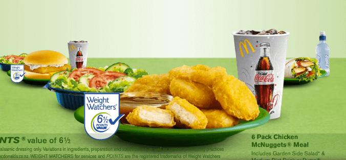 weight watchers mc donalds meals