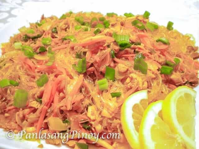 filipino pancit sotanghon guisado recipe