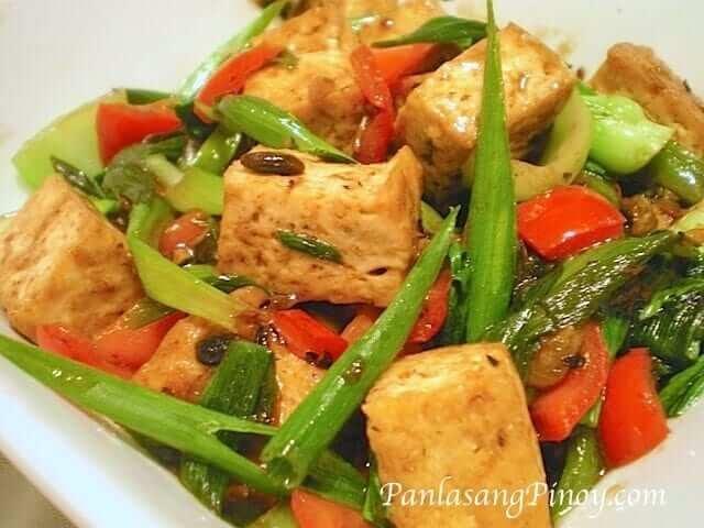 tofu in black bean sauce tokwa with tausi