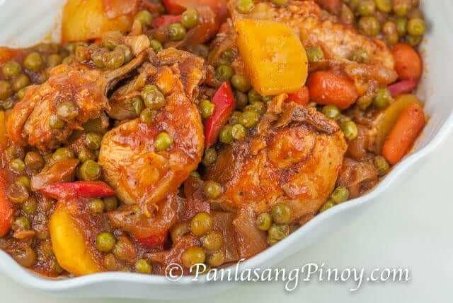 Filipino Recipe Chicken Afritada Filipino Recipe