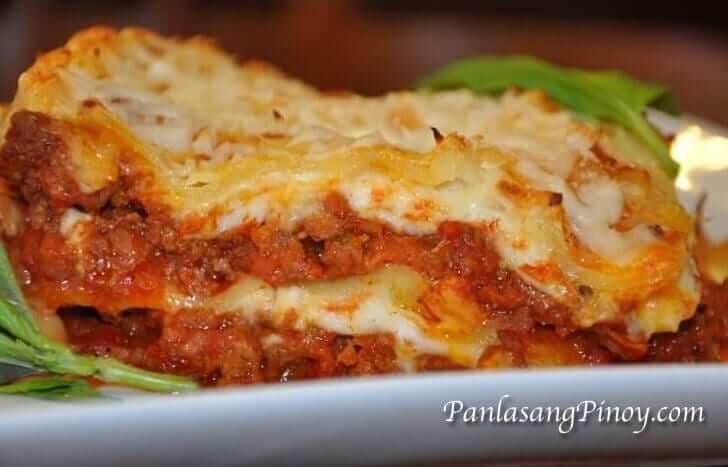 Easy Lasagna in Bechamel Sauce Recipe Panlasang Pinoy