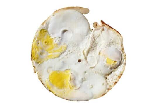 over hard egg