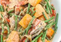 Ginataang Sitaw at Kalabasa with Crabs
