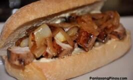 Asian Chicken Barbecue Submarine Sandwich