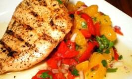 Grilled Chicken with Mandarin Salad