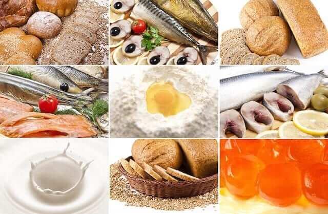 High fibre food