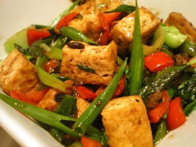 Tofu-in-Black-Bean-Sauce