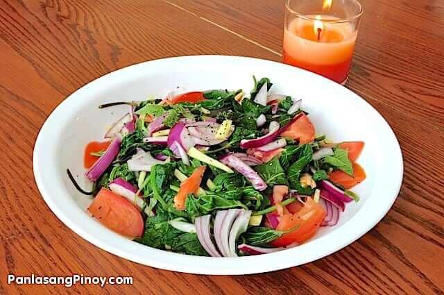Sweet Potato Leaves Salad