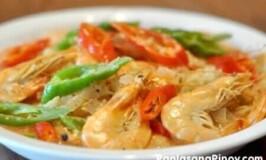 Ginataang Hipon Recipe (Shrimp in Coconut Milk)