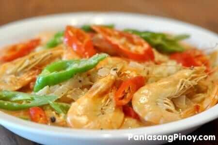 Ginataang Hipon Recipe