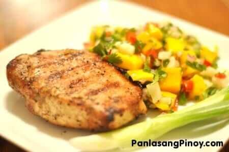 Grilled Pork Chop with Mango Salsa