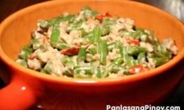Gising gising Recipe (Green bean with Pork in Coconut milk)