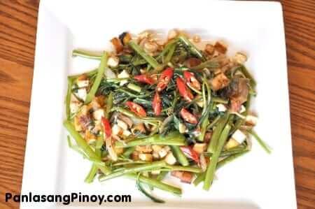 Kangkong and Tofu Stir Fry Recipe