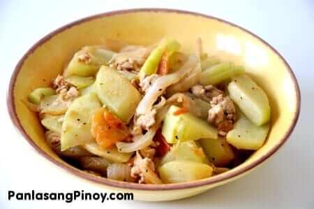 ginisang sayote recipe