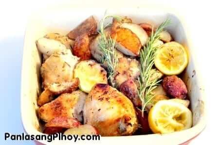 Baked Garlic Rosemary Chicken