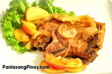 Apple Glazed Pork Chop