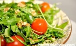 Arugula Salad with Chopped Walnuts