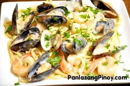 creamy seafood pasta recipe