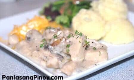 Creamy Chicken With Mushroom Recipe