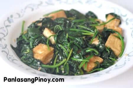 Sauteed Spinach with Tofu