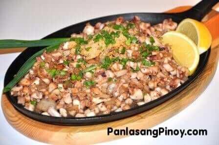 squid sisig recipe
