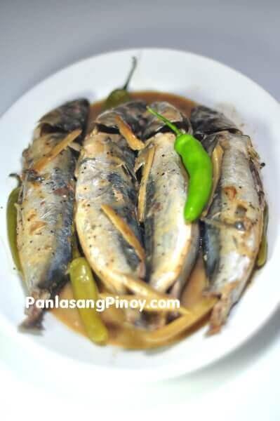 ginataang galunggong fish in coconut milk recipe