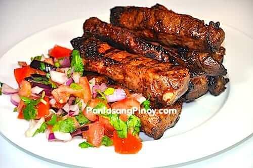 grilled ribs with pico de gallo