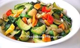 Scallop and Zucchini Stir fry