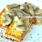 Tofu with Mushroom Gravy