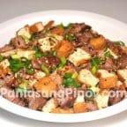 Tokwat Baka (Fried Tofu and Grilled Beef in Vinegar Sauce)