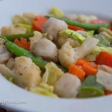 Chop Suey with Squid Balls