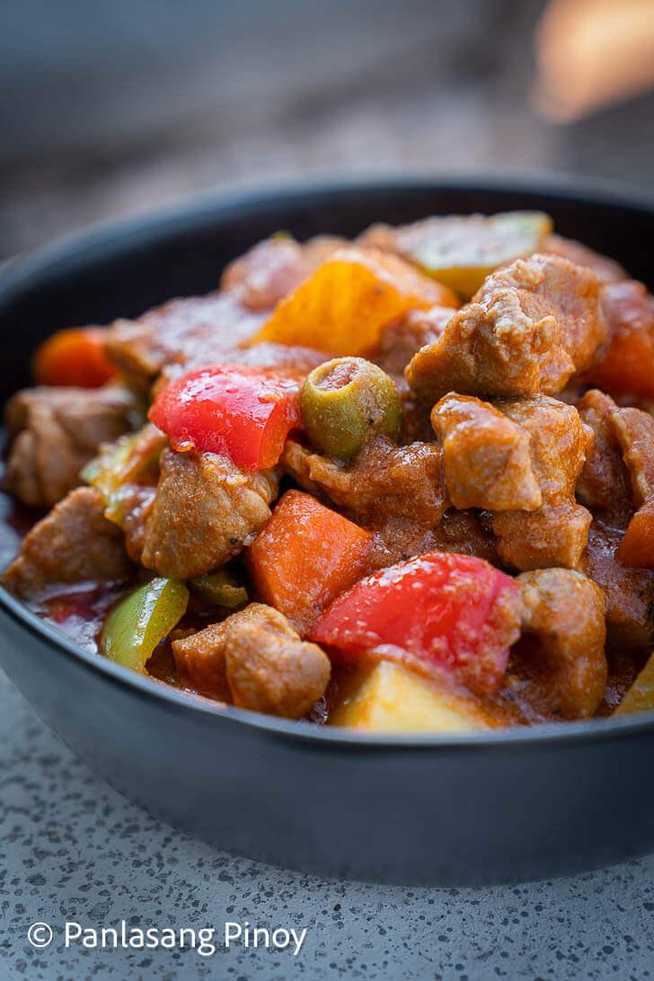 Pork Caldereta Recipe Panlasang Pinoy