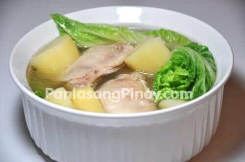 pesang manok chicken soup in ginger recipe