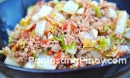 Sautéed Napa Cabbage with Ground Pork