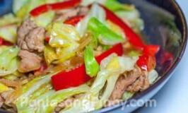 Ginisang Repolyo (Sauteed Cabbage)