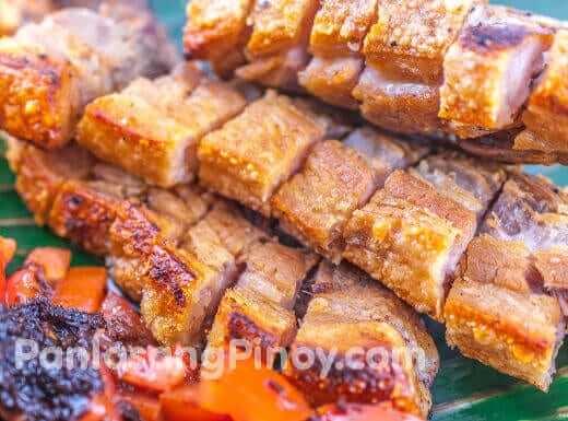 crispy oven broiled liempo pork belly