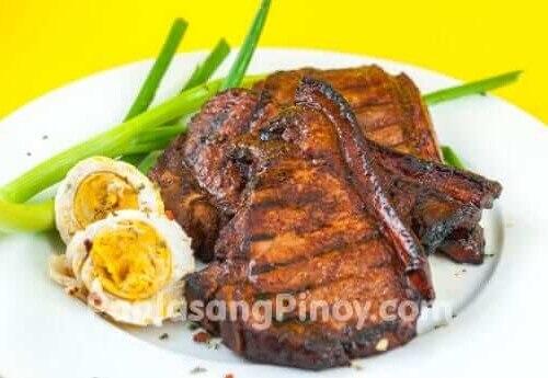 pork chop recipe with sauce filipino Inihaw na Pork Chop