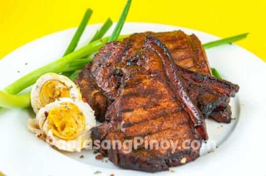 filipino inihaw na pork chop