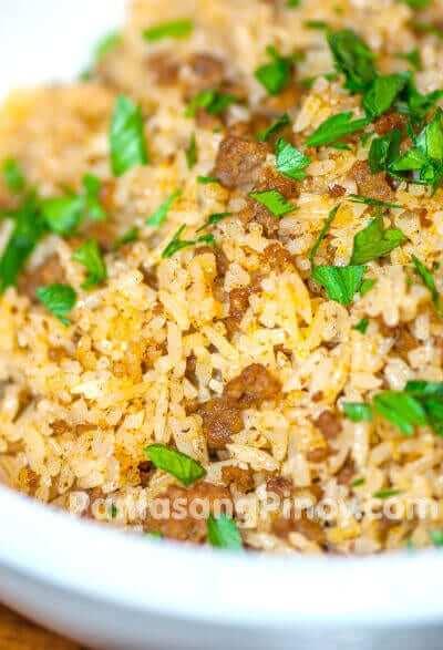 taco fried rice recipe