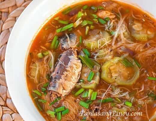Sardines with Misua and Patola Recipe