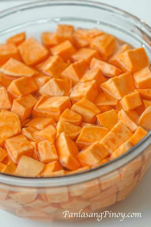 sweet potato cut into cubes