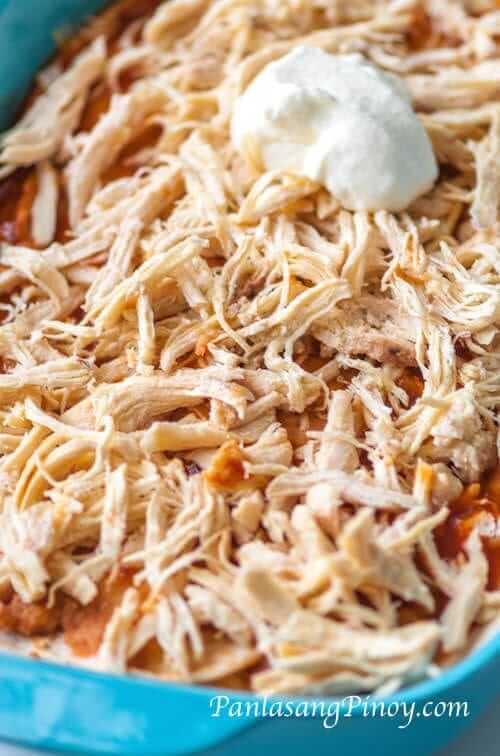 Chicken Enchilada Casserole preparation