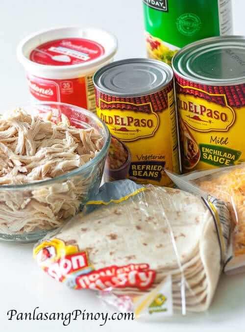 Chicken Enchilada Casserole Ingredients
