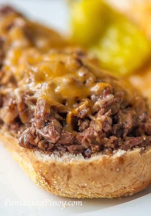 Crock Pot Beef Stew Sandwich