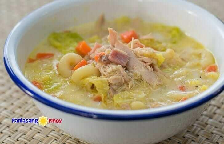 Filipino Chicken Macaroni Sopas
