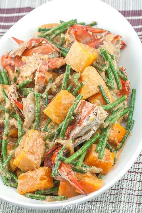 Ginataang-Sitaw-at-Kalabasa-with-Crabs