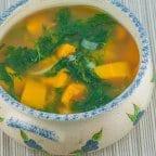 Kalabasa Soup with Ampalaya Leaves