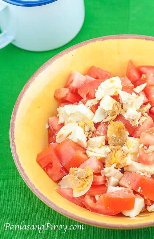Salted Eggs and Tomato Salad